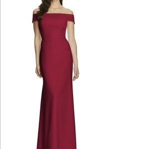 Dessy Collection Off the Shoulder Column Gown NWOT
